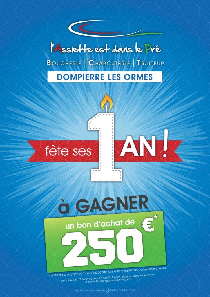 Read more about the article les 1 An de notre magasin de Dompierre les Ormes