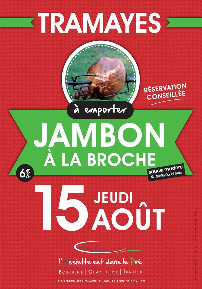 Jambon à la Broche à Tramayes pour le 15 Août