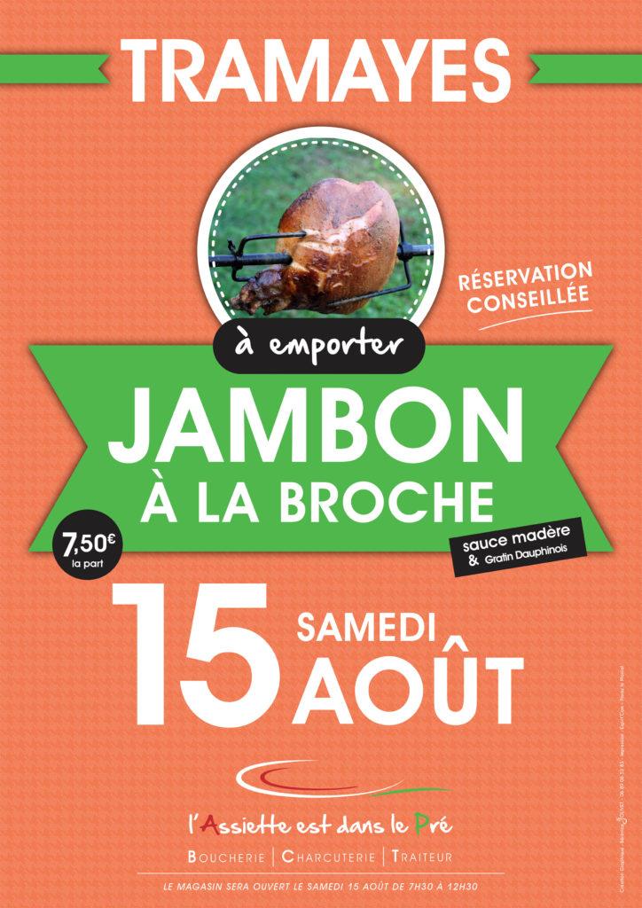Jambon à la Broche à Tramayes pour le 15 Août 2020