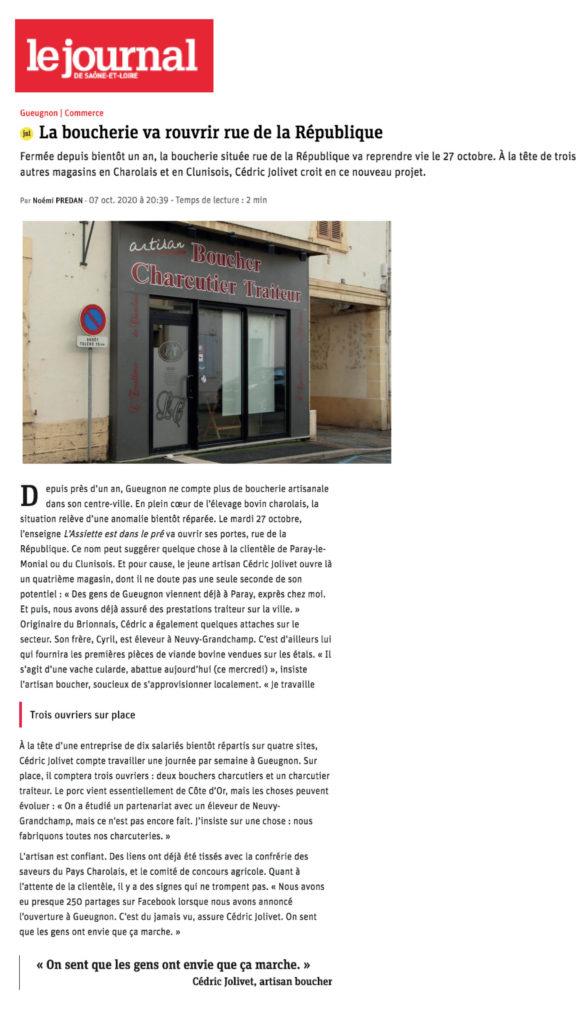 La Boucherie va rouvrir Rue de la République à Gueugnon